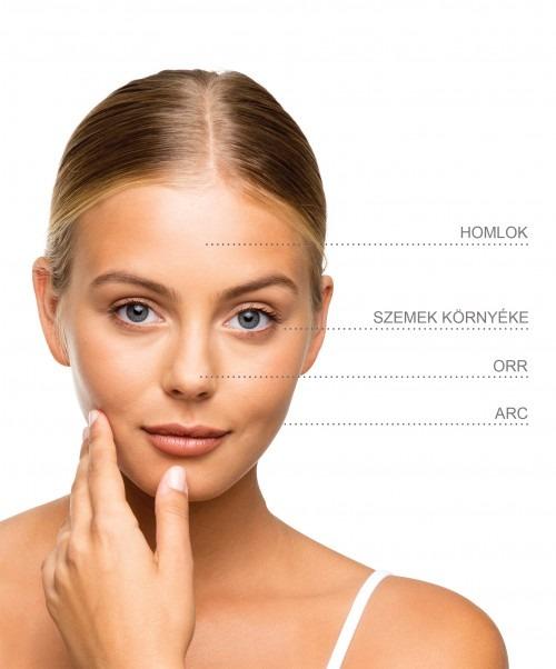 Silk'n SkinVivid bőrfiatalító masszázs készülék kezelési területek