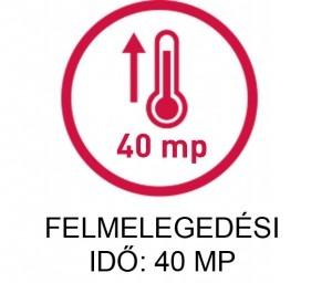 Silk'n ikon: 40 mp felmelegedési idő
